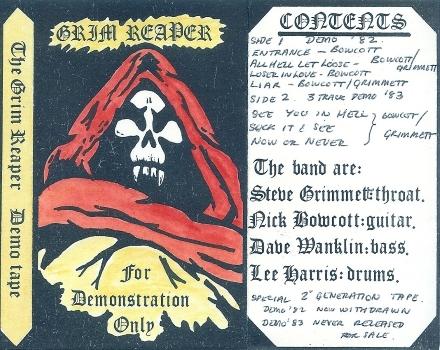 Grim Reaper – For Demonstration Only Demo (1983)